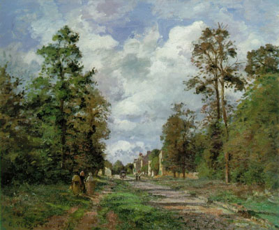 The Road to Louveciennes, at the Outskirts of the Forest