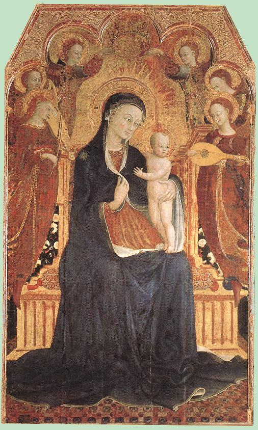 Virgin and Child Adored by Six Angels