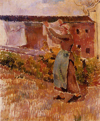 Woman Tending the Laundry (study)