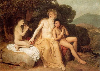 Apollo, Hyacinthus and Cyparissus Singing and Playing Music
