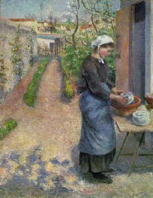 Girl Washing Plates