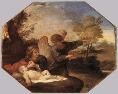 Hagar and Ismail in the Desert