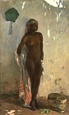 Naked Slave with Tambourine