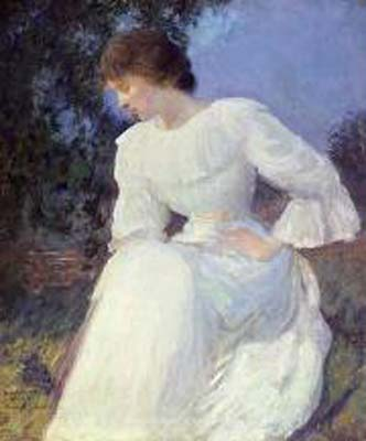 Portrait of a Woman in white