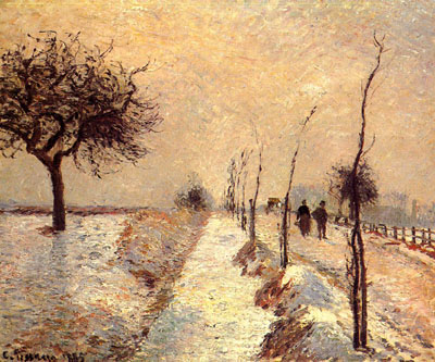 Road at Eragny: Winter