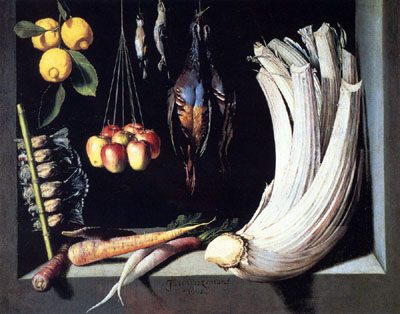 Still Life With Dead Birds, Fruit And Vegetables