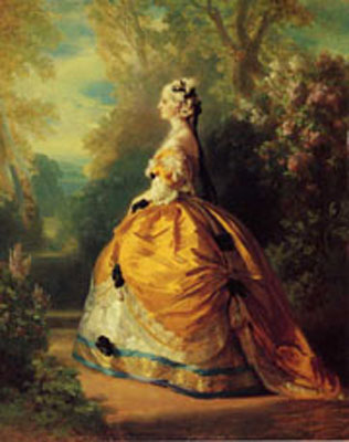The Empress Eugenie a la Marie-Antoinette