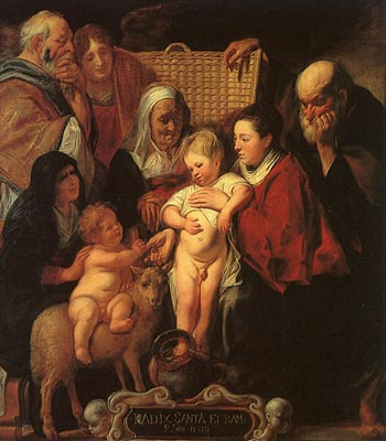 The Holy Family with St.Anne, the Young Baptist and his Parents