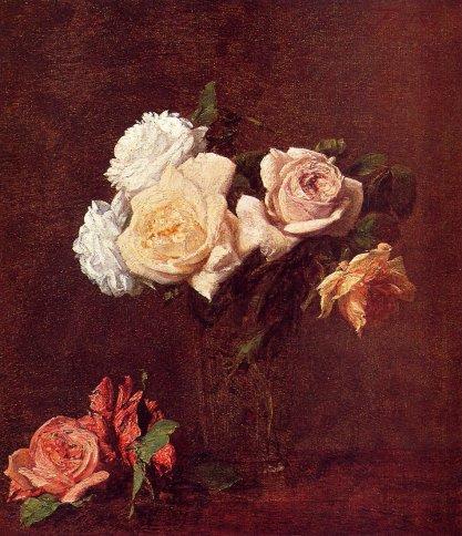 Henri Fantin-Latour - Roses in a Vase 1