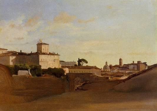 Jean-Baptiste-Camille Corot - View of Pincio, Italy