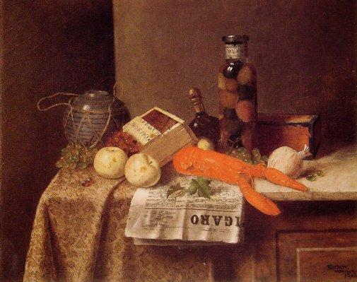 William Michael Harnett - Still Life with Le Figaro