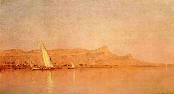 Sanford Robinson Gifford - On The Nile, Gebel Shekh Hereedee