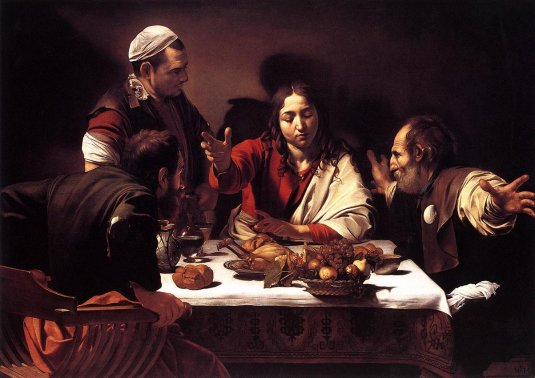 Caravaggio - Supper at Emmaus 1