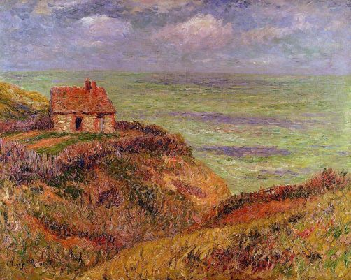 Henri Moret - Cliffs of Moelian, Finistere 1