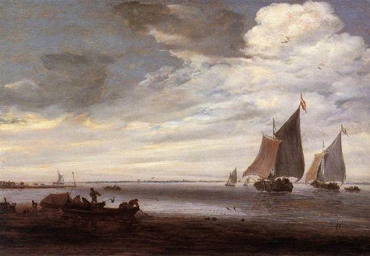 Salomon van Ruysdael - River Scene 2