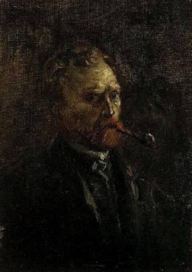 Vincent van Gogh - Self Portrait with Pipe