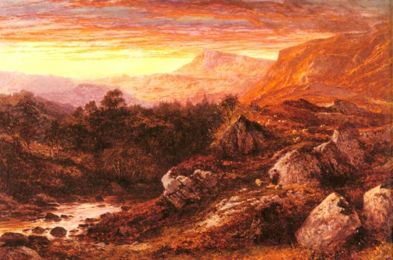 Benjamin Williams Leader - The Valley of the Lleder, North Wales