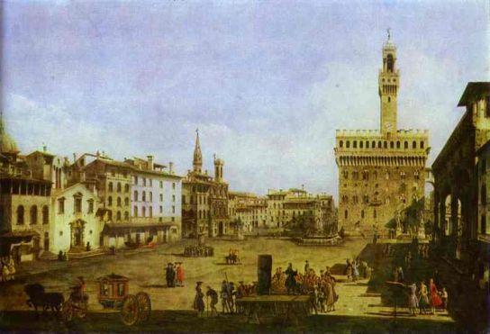 Bernardo Bellotto - Signoria Square in Florence