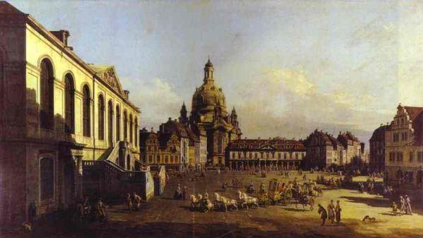 Bernardo Bellotto - The New Market Square In Dresden Seen From The Judenhof