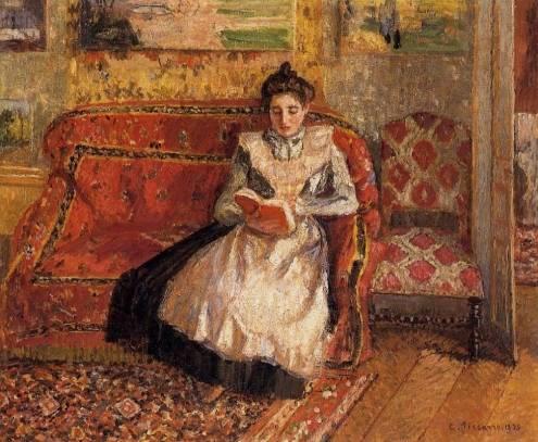 Camille Pissarro - Jeanne Reading