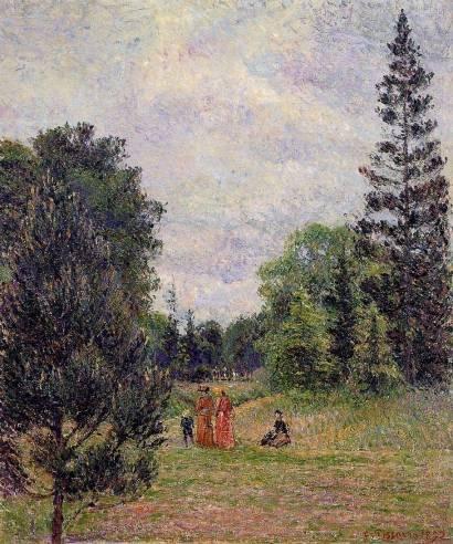 Camille Pissarro - Kew Gardens, Crossroads near the Pond