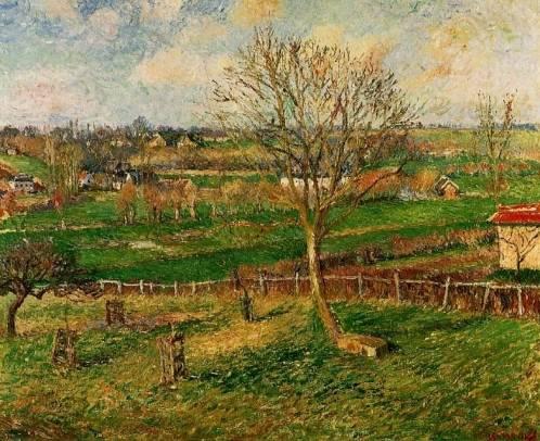 Camille Pissarro - Landscape, Fields, Eragny