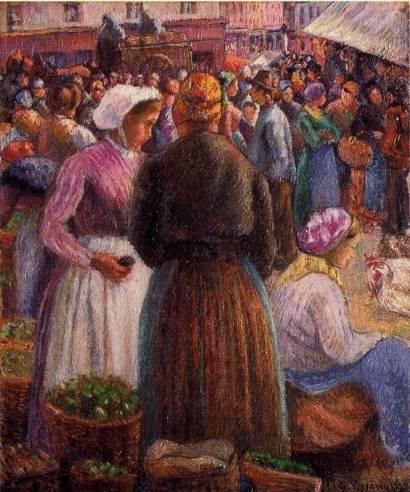Camille Pissarro - Market at Pontoise