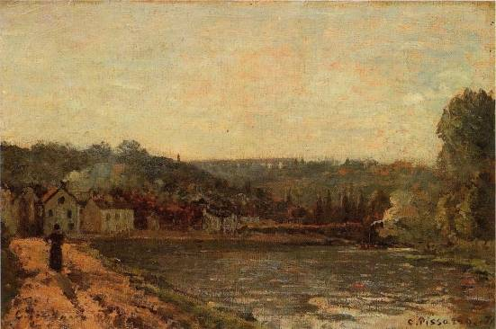 Camille Pissarro - The Banks of the Seine at Bougival