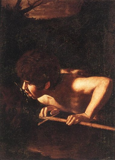 Caravaggio - St John the Baptist at the Well (Attributed)
