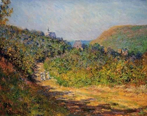 Claude Monet - At Les Petit-Dalles