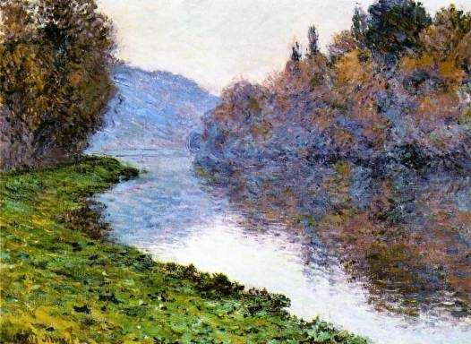 Claude Monet - Banks of the Seine at Jenfosse - Clear Weather