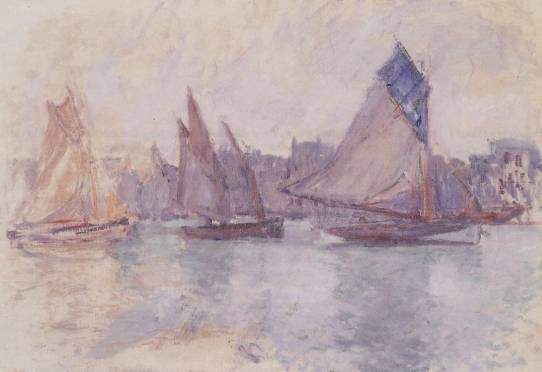 Claude Monet - Boats in the Port of Le Havre
