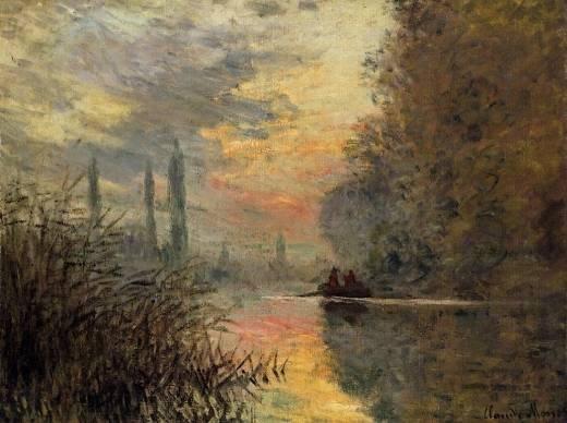 Claude Monet - Evening at Argenteuil