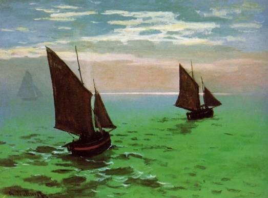 Claude Monet - Fishing Boats at Sea