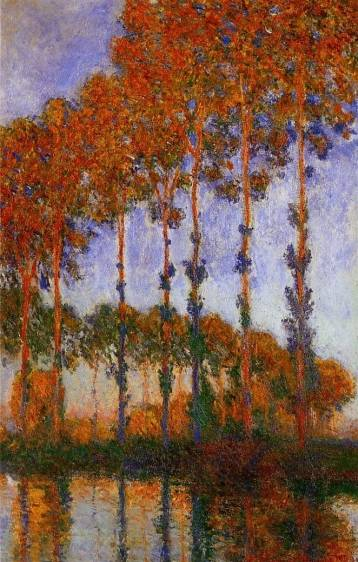 Claude Monet - Poplars on the Banks of the River Epte, Sunset