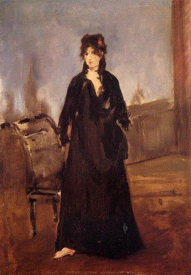 Edouard Manet - Portrait of Berthe Morisot