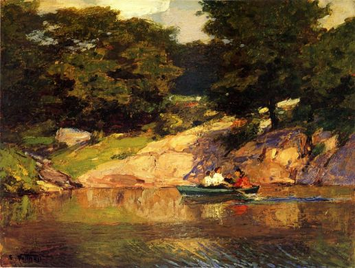 Edward Potthast - Boating In Central Park