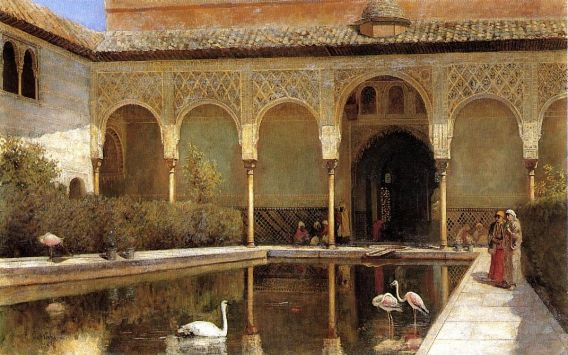 Edwin Lord Weeks - A Court In The Alhambra In The Time Of The Moors