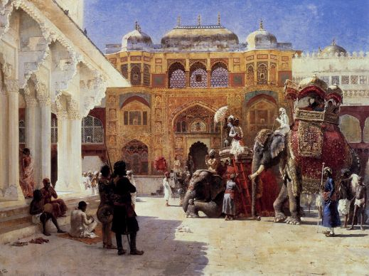 Edwin Lord Weeks - Arrival Of Prince Humbert The Rajah At The Palace Of Amber