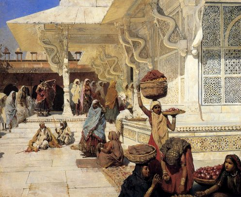 Edwin Lord Weeks - Festival At Fatehpur Sikri