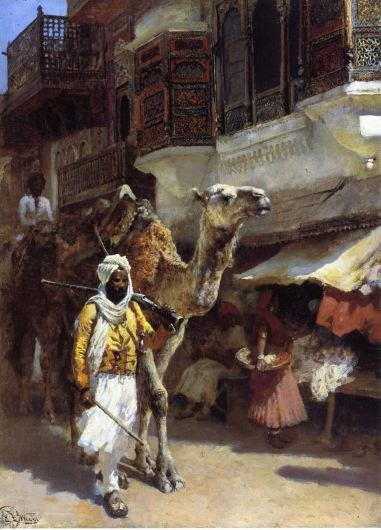 Edwin Lord Weeks - Man Leading A Camel