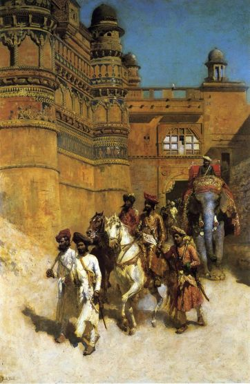 Edwin Lord Weeks - The Maharahaj Of Gwalior Before His Palace
