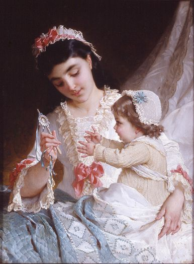 Emile Munier - Distracting the Baby