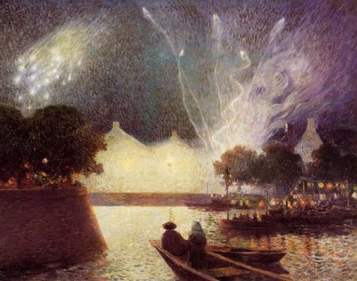 Ferdinand du Puigaudeau - Fireworks over the Port