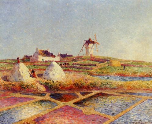 Ferdinand du Puigaudeau - Landscape with Mill near the Salt Ponds
