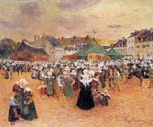 Ferdinand du Puigaudeau - The Fair at Pont-Aven