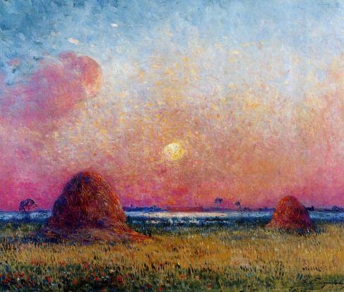 Ferdinand du Puigaudeau - Wheat Stack at Sunset