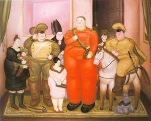 Fernando Botero - Offcial Portrait Of The Military Junta