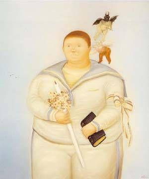 Fernando Botero - Self-portrait The Day Of My First Communion