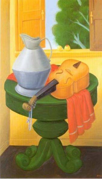 Fernando Botero - Still Life With Violin